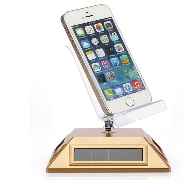 Solar Powered TurnTable tray Rotary Display watch cell phone dislay stand cell phone display desktop holder tray(China (Mainland))
