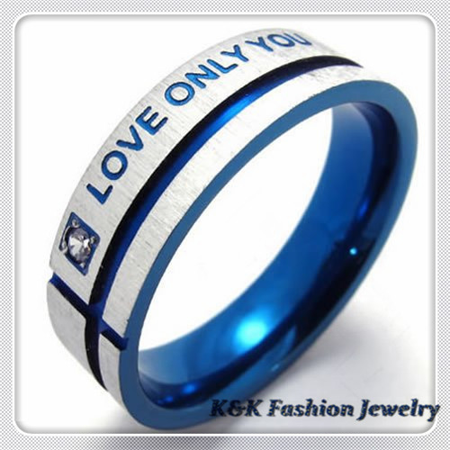 2014 Anillos Fashion Mens Womens Love Message Cz Stainless Steel Ring Size 6#,7#,8#,9#, 10#, 11#,r#024 - K&K Jewelry store