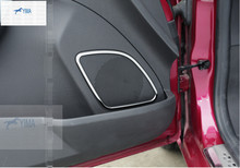 more fashion For Ford New Fiesta Hatchback stainless steel Side Door Audio Speaker Cover Trim 4 pcs / set