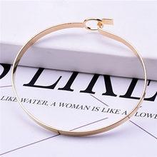2019 модные корейские драгоценности, оптовая продажа, модное двойное кольцо, матовый браслет из розового золота, женский браслет, цена за един...(China)