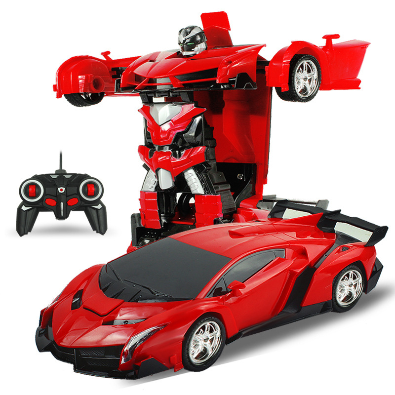 RC Car Sports Car Models Transformation Robots Remote Control Deformation Car RC Robots Kids Toys Children's Birthday Gifts(China (Mainland))