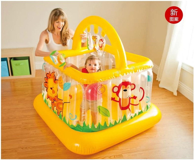 2016 New Style Crib inflatable thickening baby toddler bed guardrail child Baby Playpens fence toy gift FREE SHIPPING(China (Mainland))