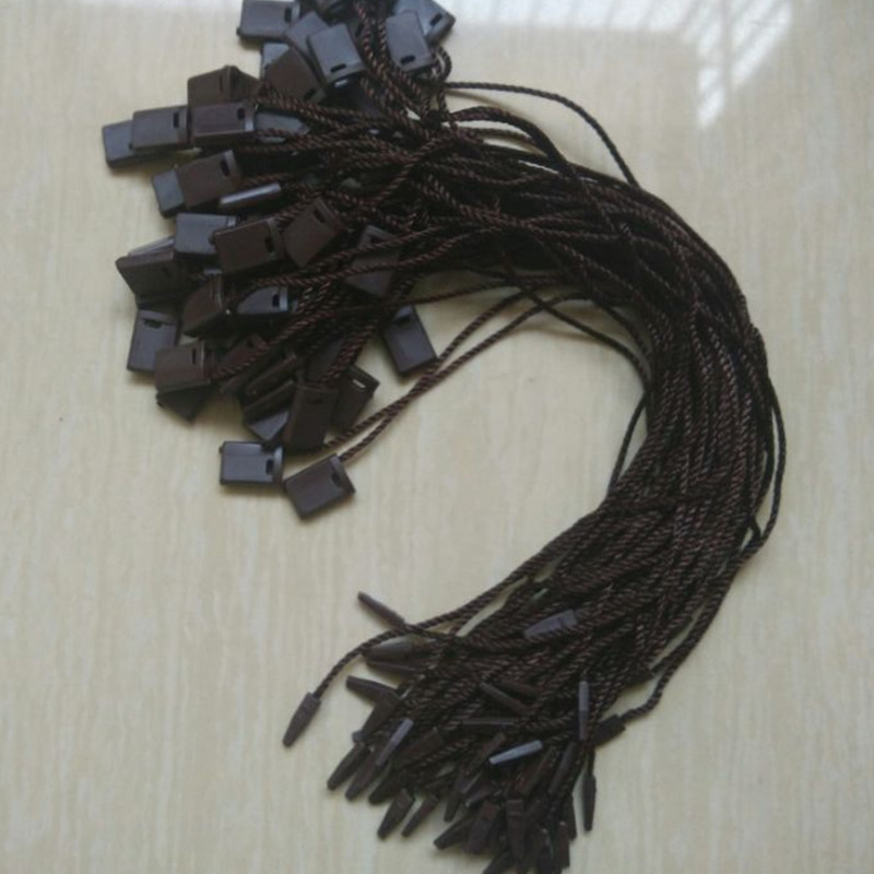 500 pcs/color Paper tags deep coffee cords for garment Hang tag strings for shirt MZ-2236(China (Mainland))