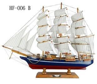 New Arrival Mediterranean Style Handcraft Sailing Boat wooden Model Ship,Solid Wooden Craft, 4 Design 60cm