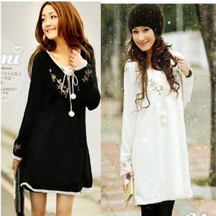 2015 Maternity Clothing Loose Knitted Cotton Long Sleeve Dresses Pregnant TF04 - TASANI Fashion store