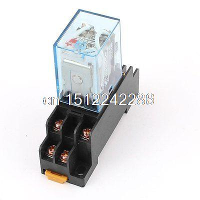AC 110V Coil Power Relay 10A DPDT LY2NJ with PTF08A Socket Base(China (Mainland))