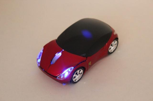 2.4G Car Wireless Optical Mouse + Mini USB Receiver for PC Laptop send color randomly(China (Mainland))
