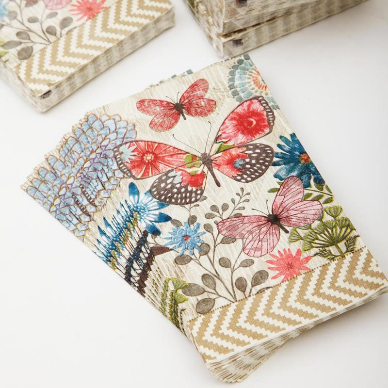 how to use napkins for decoupage