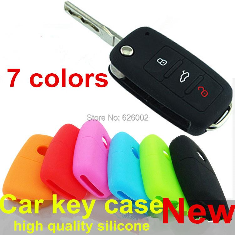 Silicone case keys cover car Volkswagen VW polo passat b5 b6 golf 4 5 6 jetta mk6 tiguan Gol CrossFox Plus Eos Scirocco Beetle(China (Mainland))