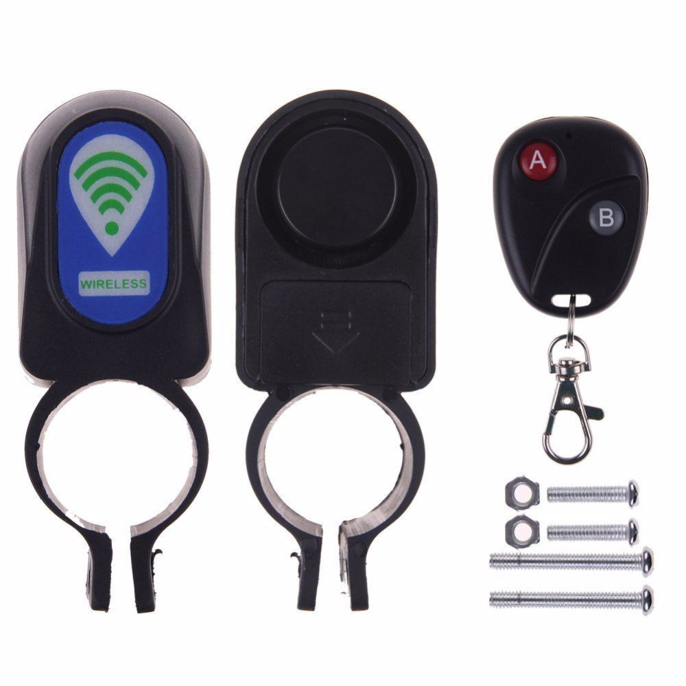 Useful Safety Lock Bicycle Cycling Security Wireless Remote Control Vibration Alarm Free Shipping(China (Mainland))