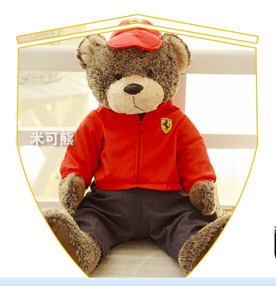 big lovely teddy bear toy Models of bear toy plush red teddy bear toy gift doll about 50cm(China (Mainland))