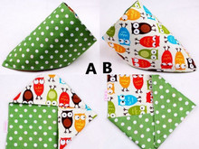 2015 NEW Children Bib Baby Bibs Kids Small Scarf Double Faced Two Color Fashion Cotton Towels