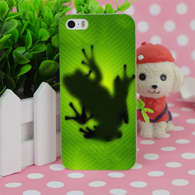 B1369 Frog On Leaf Transparent Hard Thin Case Cover For Apple iPhone 4 4S 5 5S SE 5C 6 6S 6Plus 6s Plus(China (Mainland))