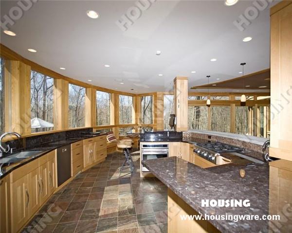 Solid wood corner kitchen pantry cabinet in kitchen for Kitchen designs jamaica