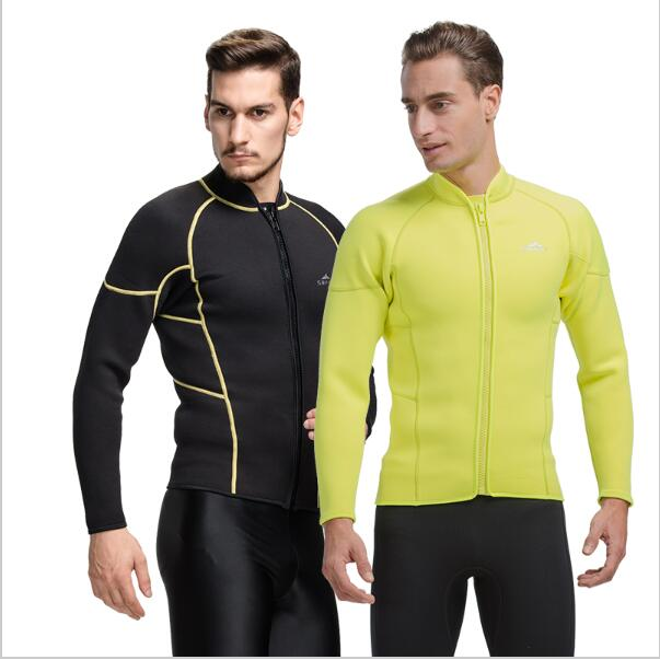 3MM Winter Warm Women/Men's Neoprene Wetsuit Diving Jackets Rash Guards Surf Tops Water Sports(China (Mainland))