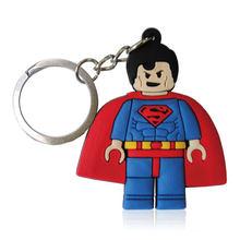 1 pcs Super Herói Superman Spiderman Batman Hulk Figura Dos Desenhos Animados do Anel Chave Titular Chave Chaveiro Chaveiro Pingente de Chave Da Cadeia de Brinquedo do Miúdo xmas Gift(China)