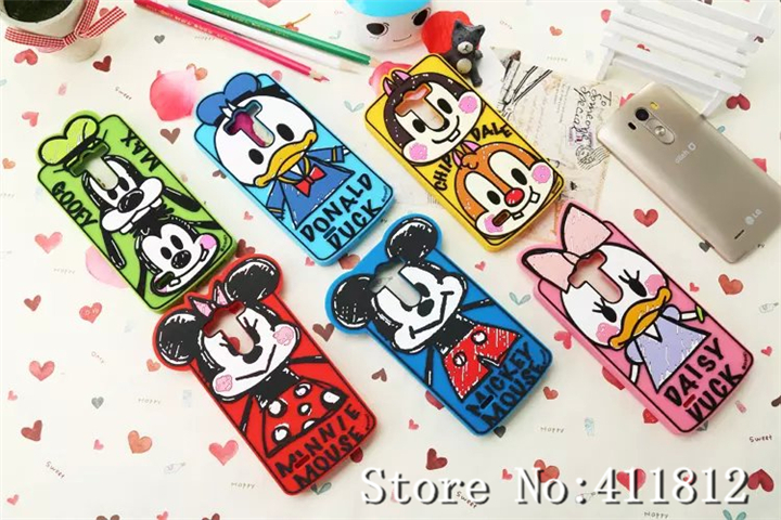 LG Optimus G3 3D Cute Classic Cartoon Soft Silicone Gel Back Skin Case Cover - Best Gadgets store