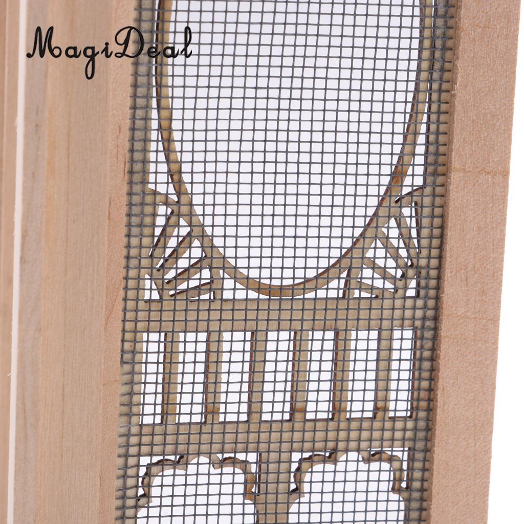 1 12 Dollhouse Miniature Wood External Hollow Screen Door Unpainted