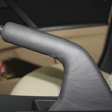 Car handbrake cover  Case for Mazda 3 2011  handbrake cover Genuine leather  Car styling interior decoration