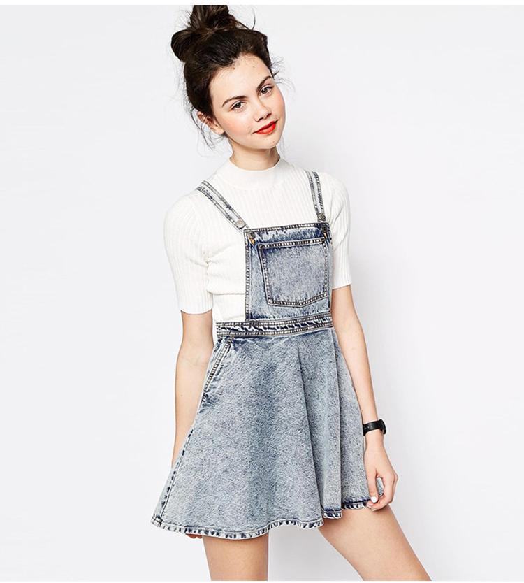 High Waisted Overall Skirt
