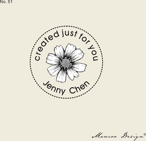 "1.57"" x1.57"" Custom flower Stamp vintage flower Stamp(China (Mainland))"