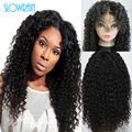 Glueless human hair curly full lace silk top wig brazilian virgin hair kinky curly human hair