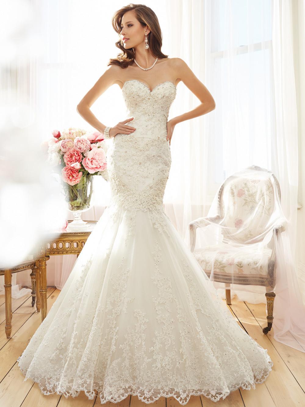 Abiti da sposa in pizzo designer immagini for High end designer wedding dresses