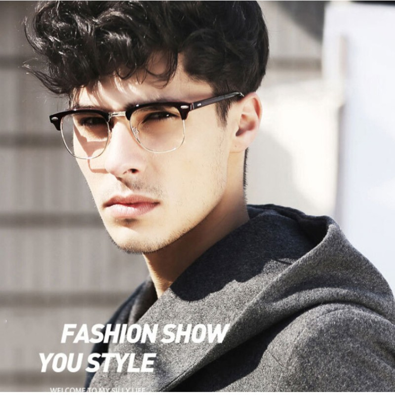 Eyeglass Frame Styles For 2017 : Half Frame Glasses Men New 2017 Brand Eyeglasses Computer ...