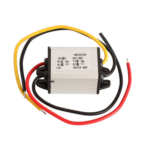 Free Shipping Hot Sale Car Charger Converter 12V To 9V 2A 18W DC To DC Buck Step Down Module ASAF(China (Mainland))