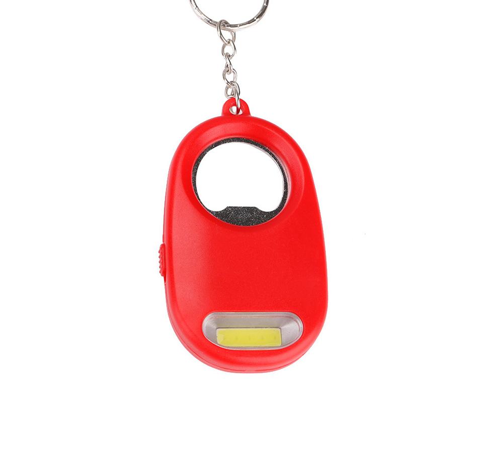 Mini COB LED Taschenlampe Schlüsselbund Licht Lampe Karabiner Outdoor Camping