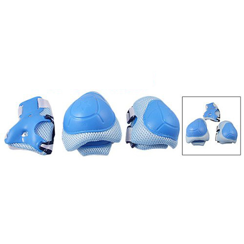product Como Child Skating Knee Elbow Wrist Protective Guard Pad Set Blue New Year Gift