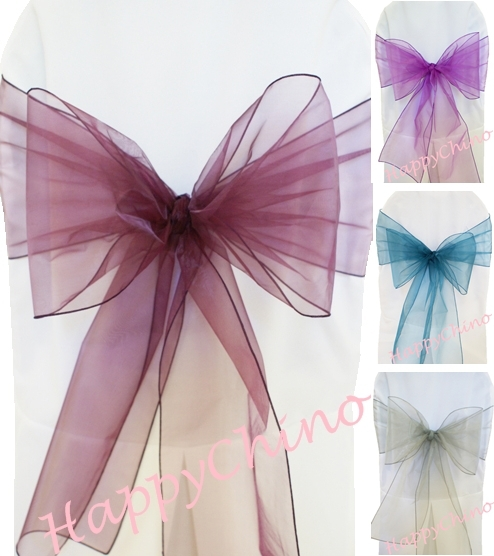 chair sashes chair cover banquet pageant sashes ribbons tie wedding