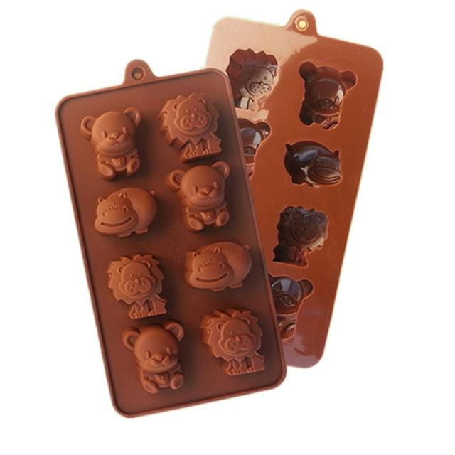 Little Bear and Lion Shaped Ice Cube Tray