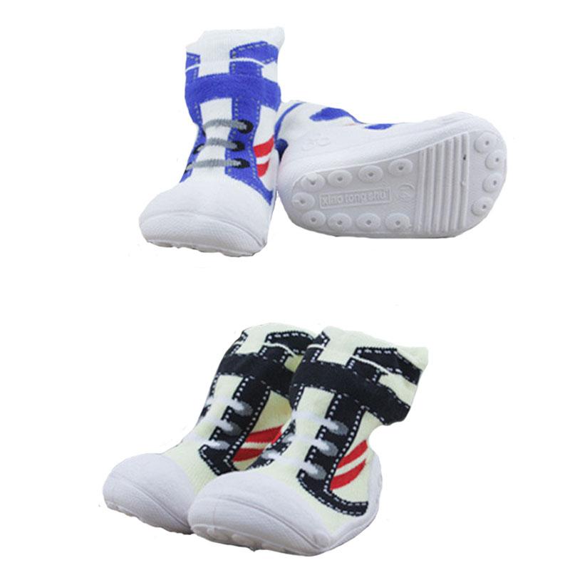 Cotton Baby Socks Newborn Anti Slip Rubber