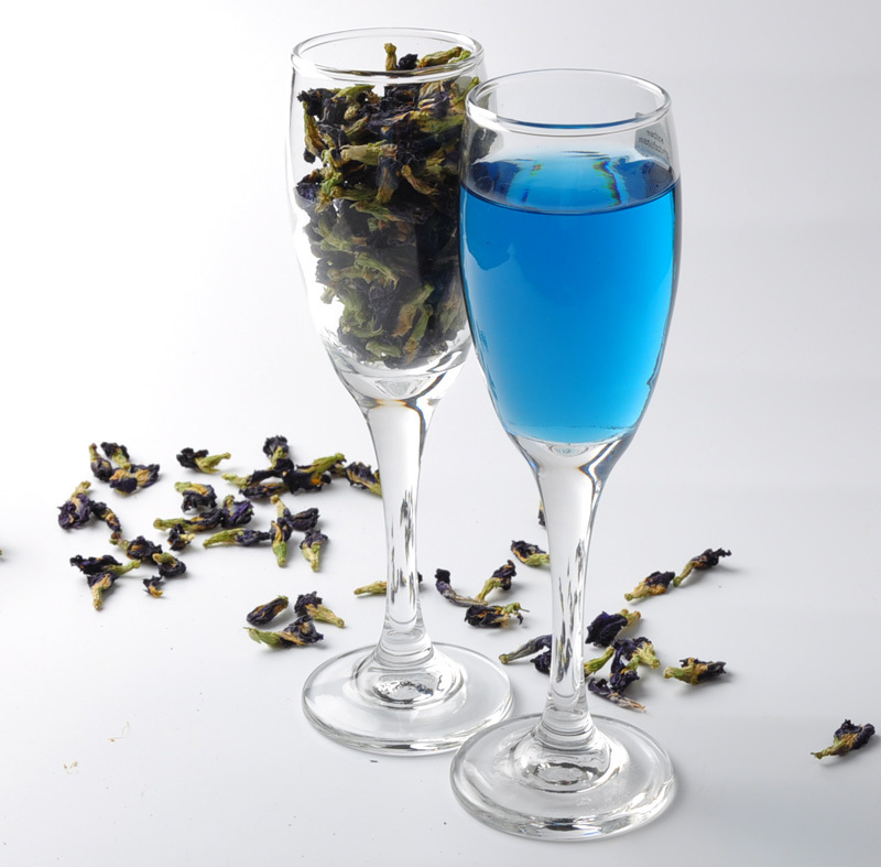 Blue Tea Dried Clitoria Ternatea Butterfly Pea tea 100g Thai Natural organic blooming Flower Thailand Nutrition