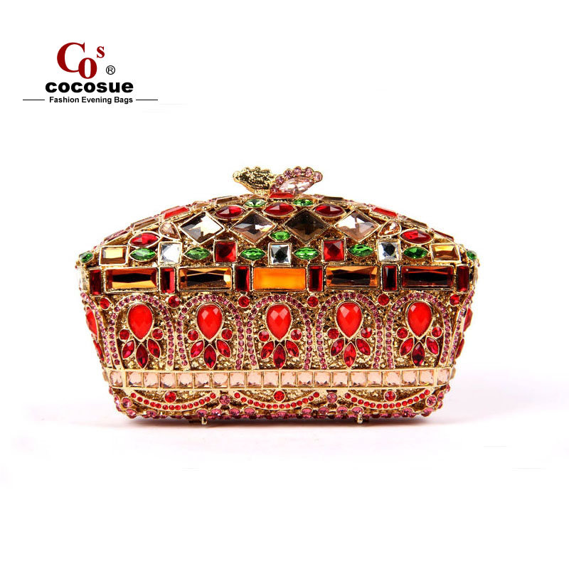 2015 New Crystal Clutches Women Evening Bags 5 Colors Luxury Ladies purse Box Wallets CO1272 - Guangzhou cocosue Fashion Co., Ltd. store
