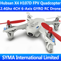 Hubsan X4 H107D 2.4Ghz 4CH 6-Axis GYRO FPV RC Drone Quadcopter Quadricopter with 5.8G Real-time Live Video VS WL V686G JJRC H9D