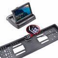 4 3 TFT LCD Car Monitor Parking Assistance RU European License Plate Frame Rear View Camera