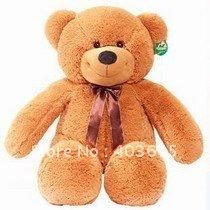 EMS Free shipping Teddy Bear Dark Brown Giant Plush Toy 120cm/ 3.94 Ft
