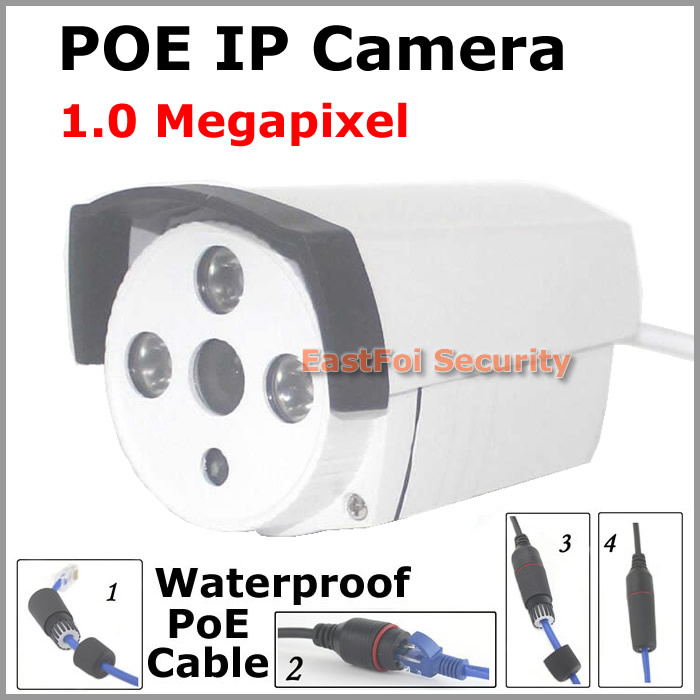 Big sale! 1280*720 Waterproof IR Night vision CCTV Camera bullet Outdoor 1.0Megapixel onvif p2p Surveillace camera support POE<br><br>Aliexpress