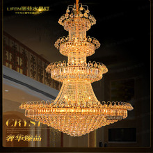 1.2*1.8m 509 crystal ball LED European big droplight stairs long chandeliers villa building in building the golden light(China (Mainland))