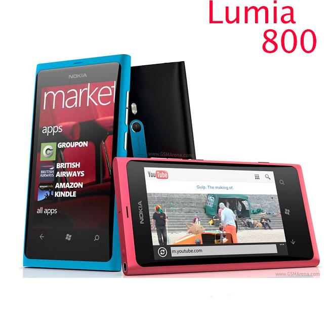 "original phone lumia 800 Windows Phone 3.7"" nokia Lumia 800 Mobile Phone ROM 16GB Camera 8.0MP Wifi GPS Bluetooth 3G cell phone(China (Mainland))"