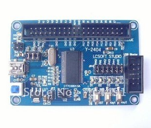 Ez-usb FX2LP CY7C68013A mobile hard disk   BLASTER epoxy resin development board+free shipping