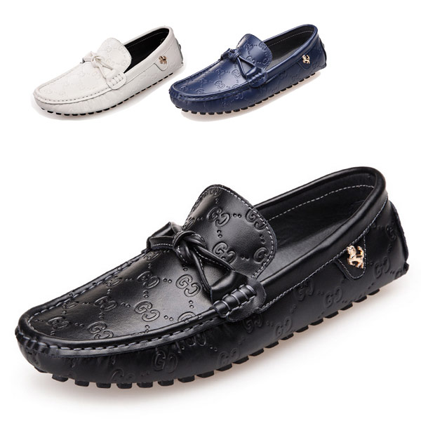 Summer Style Genuine Leather Men's Loafers Shoes Fashion Casual Driving Mocassins Rubber Soles Slip-On Soft Flats  -  CN Shoes store