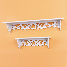 1Pc  White Wall Shelf Storage Rack