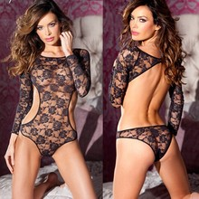 2015 sexy costumes black rose flower mesh black lenceria sexy teddy lingerie bodystocking sexy bodysuit sexy lingerie hot