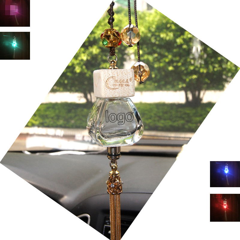 Car perfume pendant Empty bottle colorful RGB led light Freshener crystal For Honda Accord Crosstour City CR-V Fit Pilot Civic(China (Mainland))