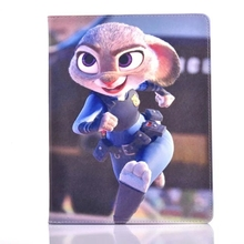 Zootopia rabbit Judy Running PU Leather Stand Flip Case Cover for Apple Tablet iPad2/iPad3/iPad4(China (Mainland))