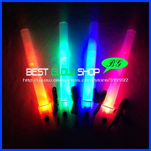 Free Shipping 20pcs/lot LED glow stick whistle flashlight flasher flashing stick led stick flash wand light stick for party(China (Mainland))