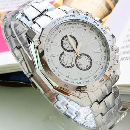 Luxury Fashion Men Stainless Steel Quartz Analog Hand Sport Wrist Watch Watches 1GVJ - Beautiful life1 Store store